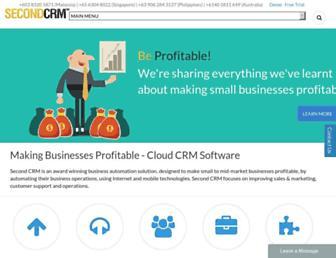 secondcrm.com screenshot