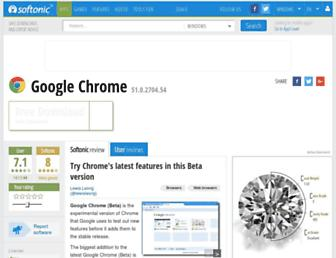 google-chrome-beta.en.softonic.com screenshot