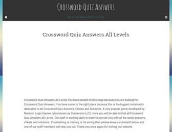 crosswordquizanswers.org screenshot