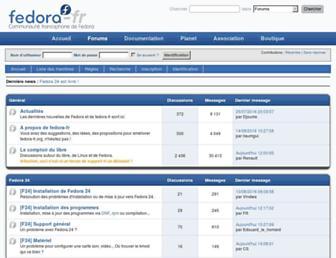 forums.fedora-fr.org screenshot