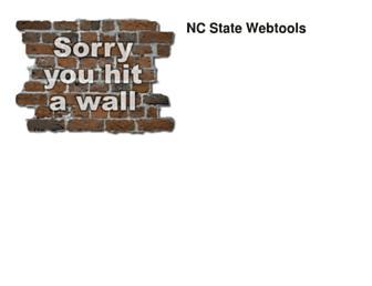 webtools.ncsu.edu screenshot