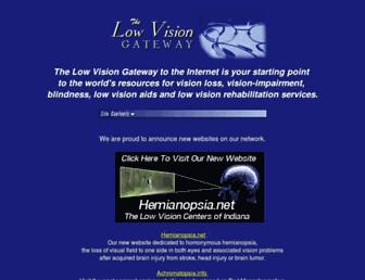 Main page screenshot of lowvision.org