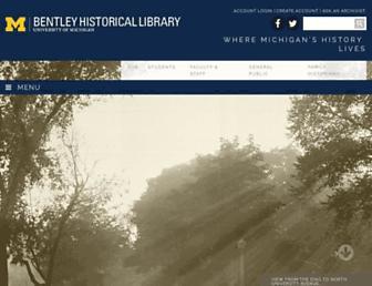 bentley.umich.edu screenshot