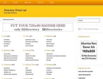 Main page screenshot of directorydirect.net