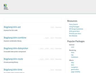 package.elm-lang.org screenshot