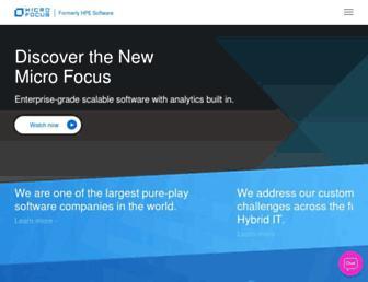 software.microfocus.com screenshot