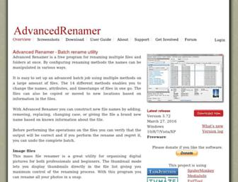 advancedrenamer.com screenshot