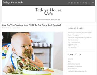 Main page screenshot of todayshousewife.net