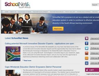 schoolnet.org.za screenshot