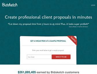 bidsketch.com screenshot