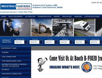 amphenol-sine.com screenshot