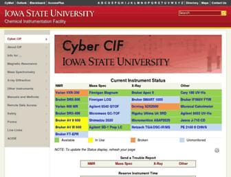 cif.iastate.edu screenshot