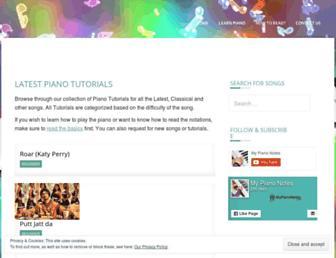 mypianonotes.com screenshot