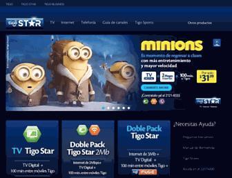 tigostar.com.sv screenshot