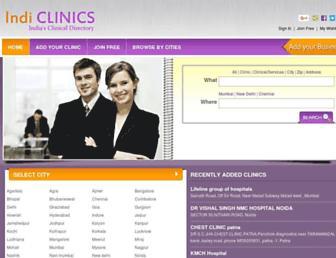 indiclinics.com screenshot