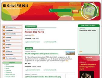 Main page screenshot of elgrito.radioteca.net