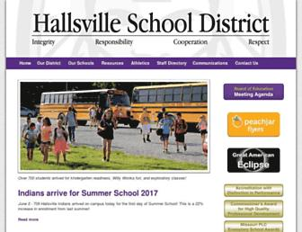 hallsville.org screenshot