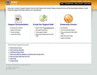 support.suso.com screenshot