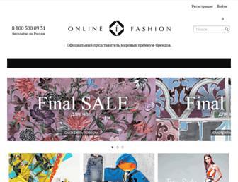 Main page screenshot of online-fashion.ru