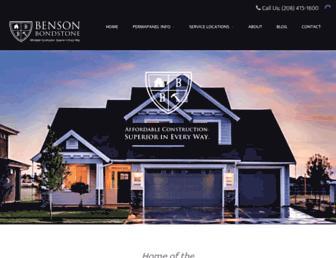 bensonbondstone.com screenshot