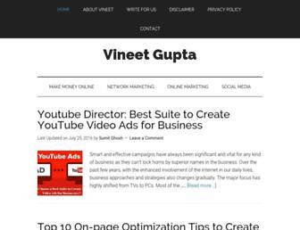 vineetgupta.net screenshot