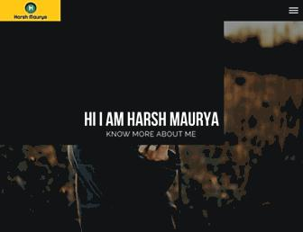 harshmaurya.in screenshot