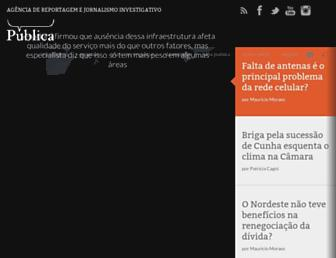 Main page screenshot of apublica.org