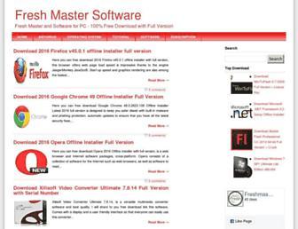 freshmastersoftware.blogspot.com screenshot