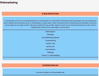 Main page screenshot of webmarketing.startze.nl