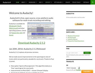 Screenshot for audacityteam.org