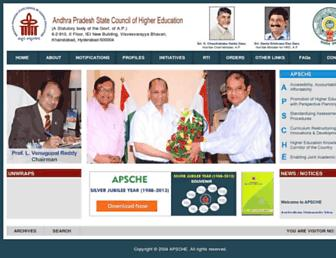 Main page screenshot of apsche.org
