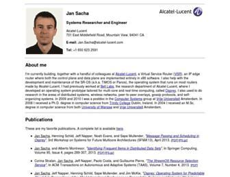 Main page screenshot of jan.sacha.pl