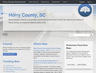 Screenshot for horrycounty.org