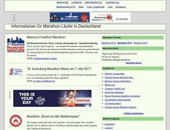 Main page screenshot of marathon.de