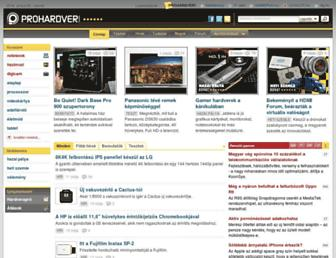 Main page screenshot of prohardver.hu