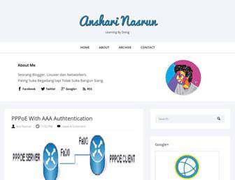 Main page screenshot of anshari.web.id