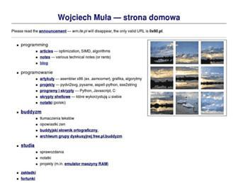Main page screenshot of wm.ite.pl