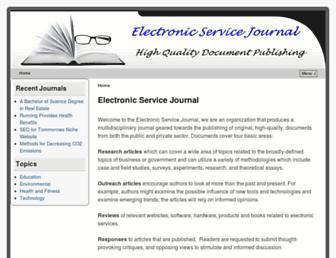 Main page screenshot of e-sj.org