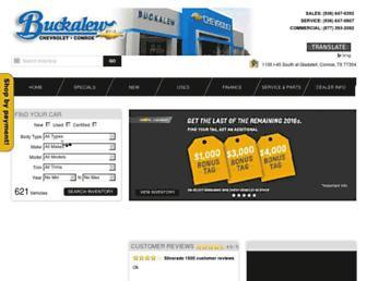 buckalewchevrolet.com screenshot