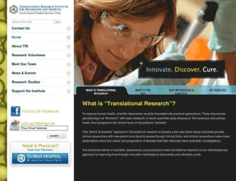 Main page screenshot of tri-md.org