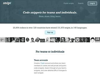 Thumbshot of Snipt.net
