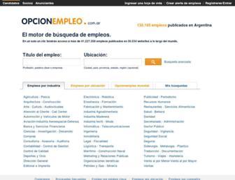 opcionempleo.com.ar screenshot