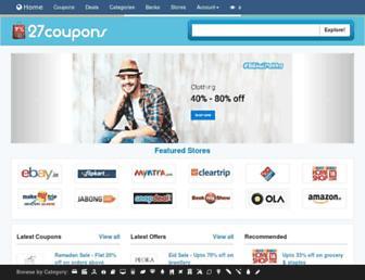 Thumbshot of 27coupons.com