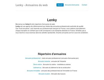 Main page screenshot of lenky.fr