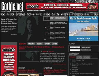 Main page screenshot of gothic.net