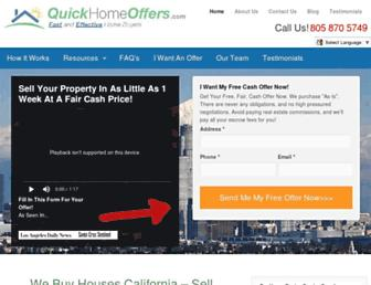 quickhomeoffers.com screenshot