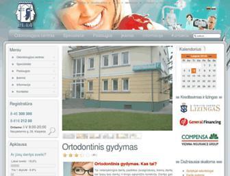 Main page screenshot of lela.lt