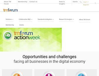 tmforum.org screenshot