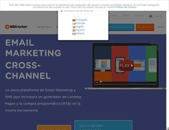 mdirector.com screenshot