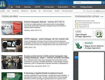 Main page screenshot of tudobeteg.hu